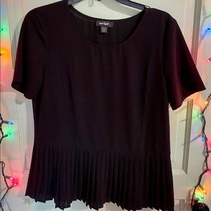 Black Lord & Taylor Short-sleeved Top